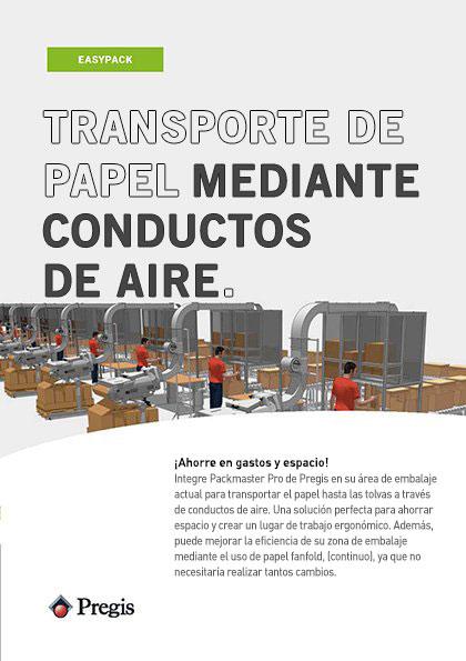 Folleto de transporte de papel mediante conductos de aire